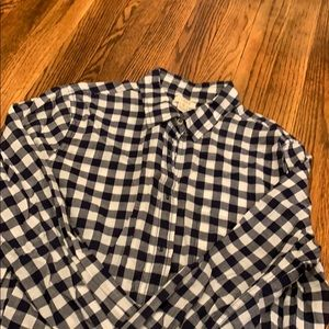 Plaid button down J Crew shirt